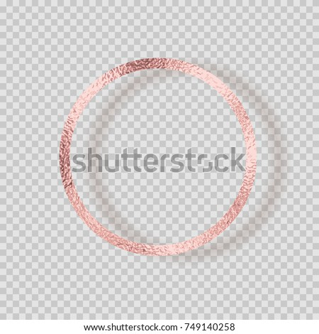 Rose Gold Foil Circle Frame Pink Stock Vector (Royalty Free ...
