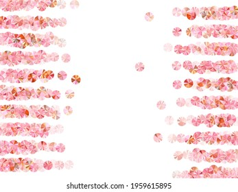Rose gold foil confetti placer vector illustration. Wedding invitation card background. Elegant glossy bead particles holiday glitter. Romantic bridal confetti texture.