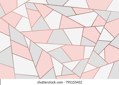 Rose gold geometric background.