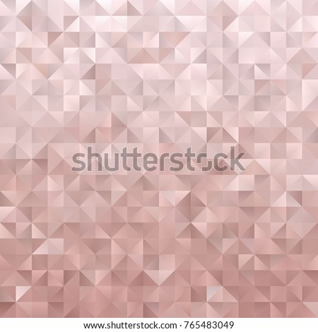 Rose Gold Geometric Low Poly Vector Stock Vector Royalty Free
