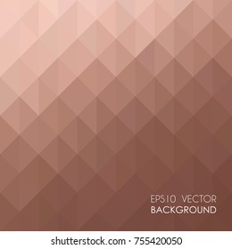 Rose Gold geometric texture background vector.