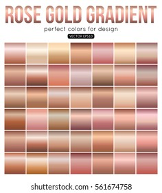 Rose gold gradient perfect colors for design. Vector illustration