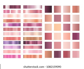 Rose gold and pink gradient vector collection