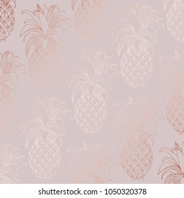 Rose gold. Vector decorative pattern for design and decoration of surfaces, invitations and business cards
