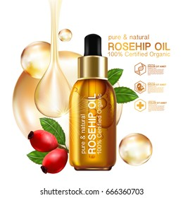 Rose hip oil natural cosmetic skin care