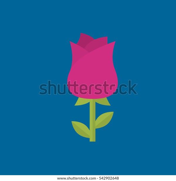 rose icon flat disign