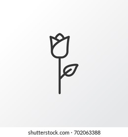 Rose Icon Symbol. Premium Quality Isolated Love Flower Element In Trendy Style.
