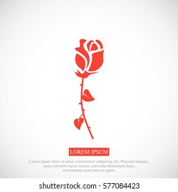 rose icon, vector best flat icon, EPS