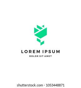 Rose Logo Design Template