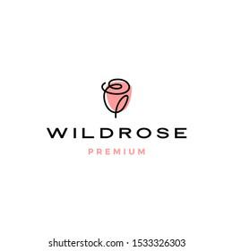 rose logo flower vector icon illustration