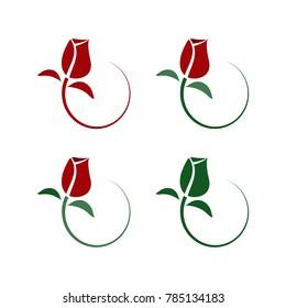 Rose Logo, vector, icon design.
