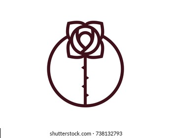 rose logo - Vector illustration