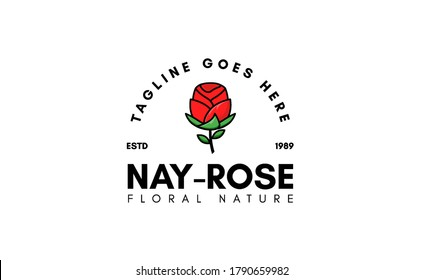 Rose Logos For Spas, Boutiques, Salons, And Botanical Logos. Design Inspiration With The Concept Of a Rose. Vector Illustration