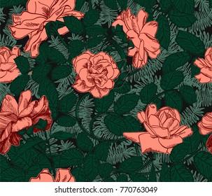 rose pattern engraving