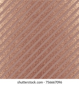 Rose quartz glossy background. Copper, Bronze Metallic texture. Gold Pink metal. Trendy template for New Year, Wedding, Birthday, Flyers, Logo Banners Party Invitation card. Grunge design.