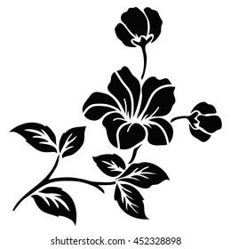 Rose Sketch ,Flower motif design.