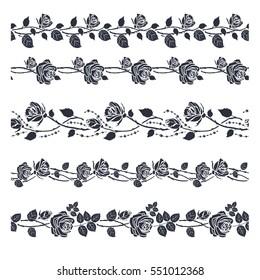 Rose tattoo horizontal pattern.