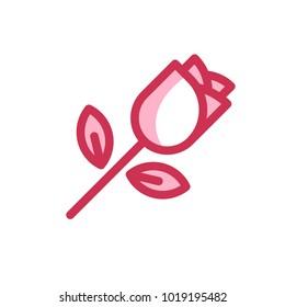 rose valentine outline icon