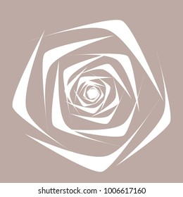 Rose. Vector Flower. Beautiful White Rose in Ethnic Style for Textile, Tile, Paper, Card, Banner, Fabric, Illustration. Ethnic Rose. Vector Illustration. Symbol. Flower. Stylized Rose. Geometric.