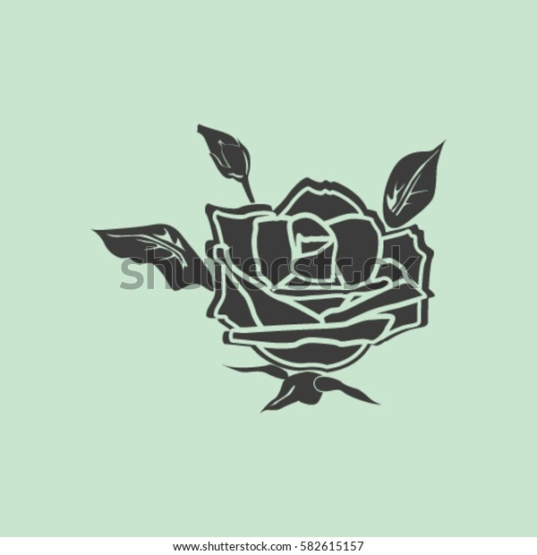 rose vector icon