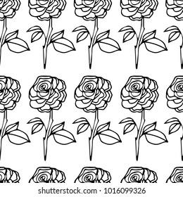 Rose vector illustration. Doodle style. Design, print, decor, textile, paper
