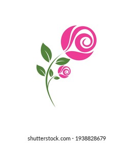 Rose Vector Logo Illustration. The logo simple, minimal easy to configure.