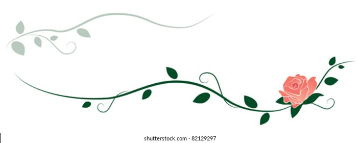 Rose and Vines Ornament