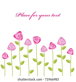 roses card background