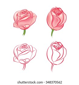 Rose Drawing Images Stock Photos Vectors Shutterstock
