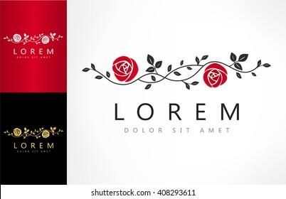 roses flower logo