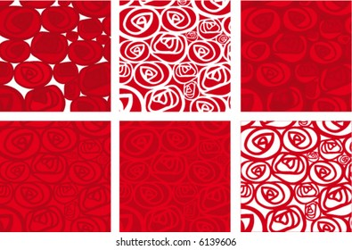roses flower power (vector) - illustrated object / background