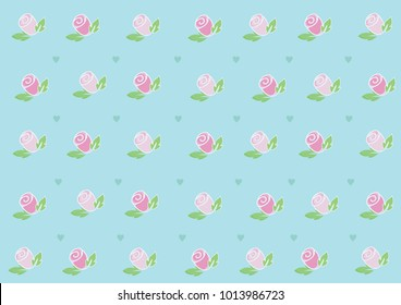 Roses and Hearts Wallpaper Welcome to the day of love (Valentine's Day) or every day