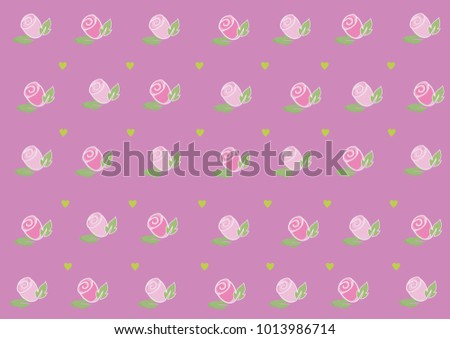 Roses Hearts Wallpaper Welcome Day Love Stock Vector Royalty Free