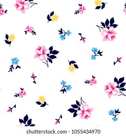 Roses Pattern With small flowers  for textile pattern fashion print