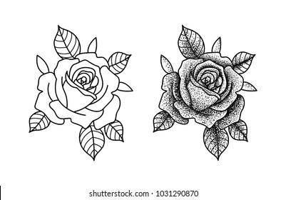 7f13fac0ca990 Rose Tattoo Images, Stock Photos & Vectors | Shutterstock