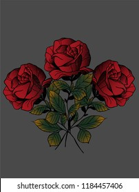roses traditional design