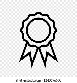 Rosette icon vector transparent