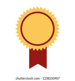 rosette medal on white background