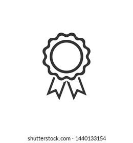 Rosette Medals Icon Vector Design Illustration