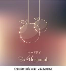 rosh hashanah holiday greeting vector illustration