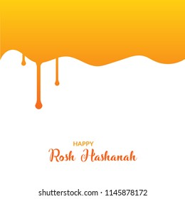 Rosh Hashanah simple template vector illustration.