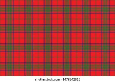 Ross  Tartan. Seamless rectangle pattern for fabric, kilts, skirts, plaids