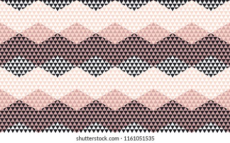 Rosy color geometric textured seamless pattern for background, wrapping paper, fabric, surface design. Pastel classic repeatable motif in Italian style.