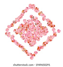 Rosy gold beads confetti placer vector background. Valentine's day background design. Circle flickering bead elements holiday decoration. Romantic love valentine confetti.