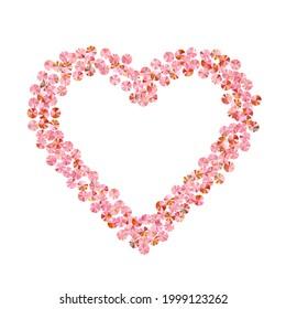 Rosy gold sequin confetti placer vector illustration. Valentine's day background design. Circle sparkling tinsel particles holiday glitter. Romantic love valentine confetti.