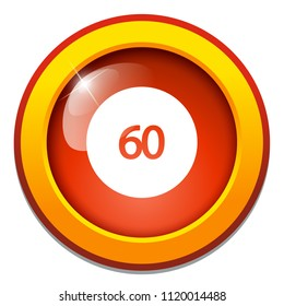 rotate 60-degrees angles icon, 360 degree angle sign symbol