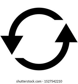 rotate arrow icon design vector template