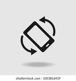 Rotate screen icon. Mobile phone icon. Vector