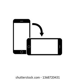 Rotate smartphone screen black icon. EPS10