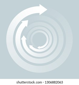 Rotating Arrows, Symbol Graphics,Whirlpool image,